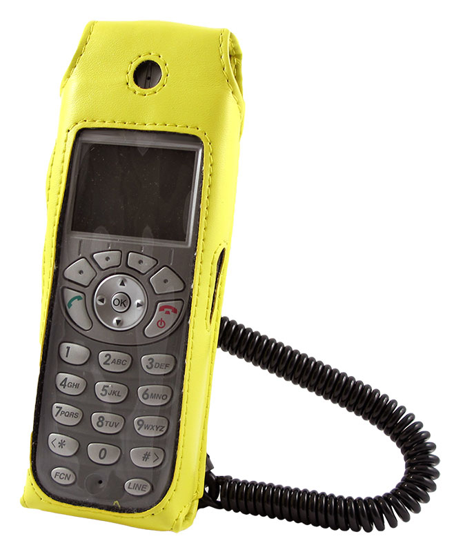 Yellow Vinyl Case with Swivel Belt clip for NEC MH160 Wireless Handset 0381301
